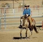 Lynn Baber on One of Her Favorite Horses