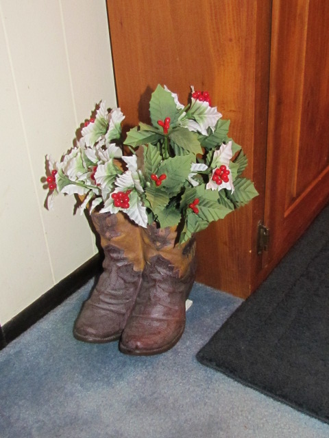 Cowboy.Boots.w.Christmas.Plant.2012